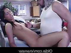 Brunette Facial Old and Young Teen