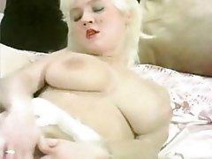 Big Boobs Blonde Nerd Stockings Vintage