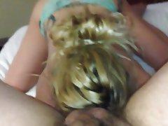 Blonde Blowjob Close Up