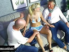 Blonde Blowjob German Hardcore Threesome