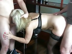 German Amateur Anal Cum in mouth Threesome
