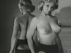 Big Boobs Blonde Lingerie Stockings Vintage