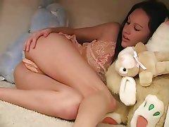 Brunette Babe Masturbation Pornstar