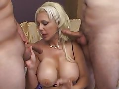 Big Boobs Blonde Threesome