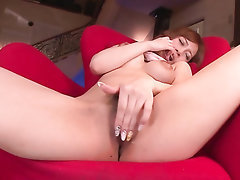 Asian Babe Big Tits Stockings Solo