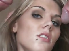 Blonde Hardcore Small Tits Threesome Skinny