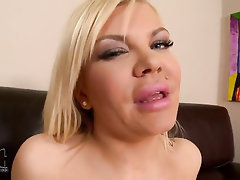 Babe Big Tits Stockings Masturbation Solo