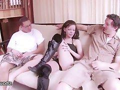 Amateur Casting Skinny Teen Threesome