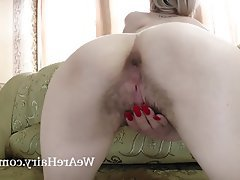 Blonde Hairy Small Tits Stockings